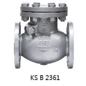 ㉿ CAST STEEL 10K FLANGED SWING CHECK VALVE