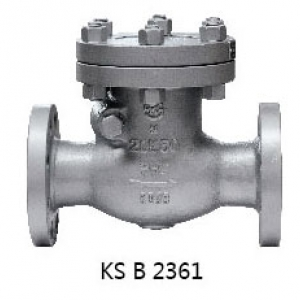 ㉿ CAST STEEL 20K FLANGED SWING CHECK VALVE