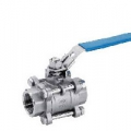 STAINLESS STEEL 10K THREADED BALL VALVE(1MPa) 3PCS