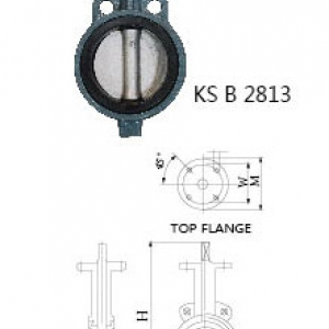 ㉿ CAST IRON 10K BUTTERFLY VALVE (LEVER TYPE)
